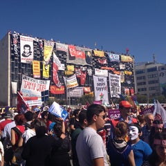 Photo taken at Taksim Gezi Parkı by Gülşah B. on 7/24/2013