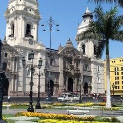 Photo taken at Plaza Mayor de Lima by Eiji M. on 4/26/2013