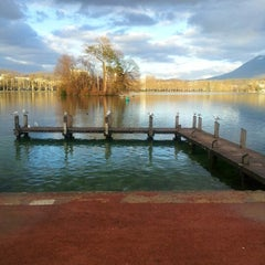 Photo taken at Quai Napoléon III by Fiona C. on 12/26/2012