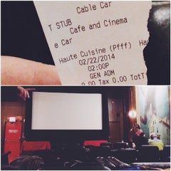 Photo taken at Cable Car Cinema and Cafe by Olivia A. on 2/22/2014