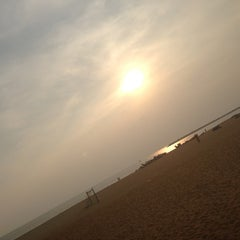 Photo taken at Kollam Beach by Nithin N. on 12/25/2012