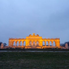 Photo taken at Schloss Schönbrunn by Sara P. on 3/8/2013