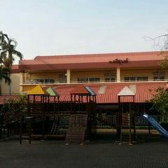 Photo taken at โรงเรียนแย้มสอาดรังสิต (Yamsaard Rangsit School) by Sarawut P. on 4/27/2015