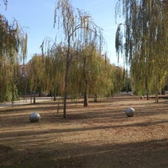 Photo taken at Parc del Centre del Poblenou by Pere on 12/31/2012