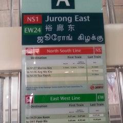 Photo taken at Jurong East MRT Interchange (NS1/EW24) by Kyle ك. on 8/16/2013