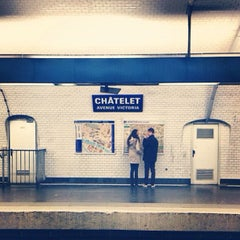Photo taken at Métro Châtelet [1,4,7,11,14] by Gustavo on 6/19/2013
