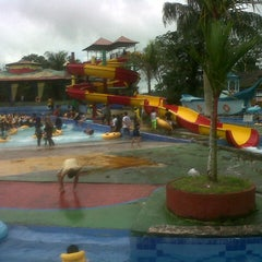 Photo taken at Minang Fantasy Waterpark by Fahrein L. on 12/22/2013