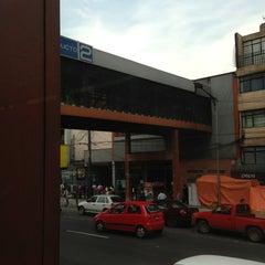 Photo taken at Metro Viaducto (Línea 2) by Inti A. on 8/30/2013