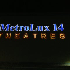 Photo taken at MetroLux 14 Theatres by Alex K. on 1/21/2013