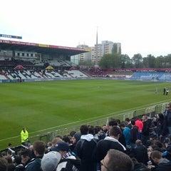 Photo taken at BSFZ Arena - Südstadt Stadion - Trenkwalder Arena by Michael S. on 4/8/2014