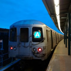 Photo taken at MTA Subway - Ozone Park/Lefferts Blvd (A) by Shane R. on 3/8/2014