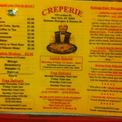 Photo taken at Creperie by Lauren A. on 1/9/2013
