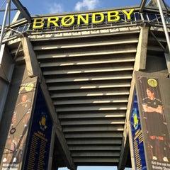 Photo taken at Brøndby Stadion by André M. on 5/5/2013