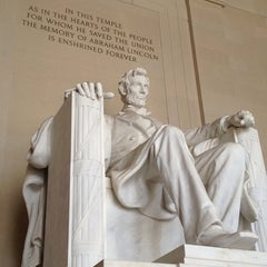 Photo taken at Lincoln Memorial by Claudia S. on 7/23/2013