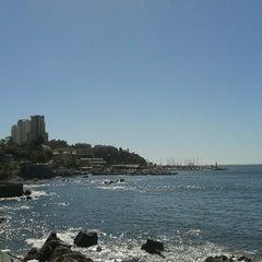 Photo taken at Playa Higuerillas by Sandra D. on 2/7/2014