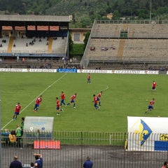 Photo taken at Stadio Lungo Bisenzio by Antonio C. on 4/28/2013