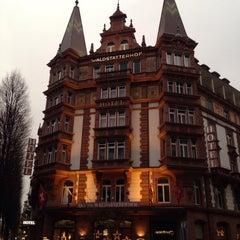 Photo taken at Hotel Waldstätterhof by Flavia P. on 12/7/2014