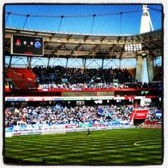 Photo taken at Стадион «Локомотив» by Alexey K. on 4/13/2013