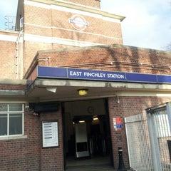 Photo taken at East Finchley London Underground Station by Godwyns O. on 2/20/2013