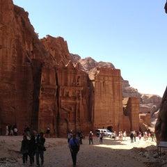 Photo taken at Petra البتراء by Kate M. on 3/20/2013
