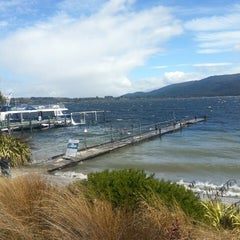 Photo taken at Real Journeys Lake Te Anau by Oxana S. on 1/8/2014