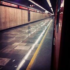 Photo taken at Metro Aquiles Serdán (Línea 7) by Ernesto V. on 10/6/2013