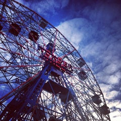 Photo taken at Deno's Wonder Wheel by Emily T. on 10/12/2013