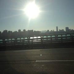 Photo taken at 잠실대교 (Jamsil Bridge) by Sanghee K. on 12/30/2012