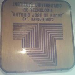 """Photo taken at Instituto Universitario de Tecnología """"Antonio José de Sucre"""" by Maria M. on 1/31/2013"""