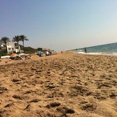 Photo taken at Playa Luna Beach by Kata E. on 9/20/2013