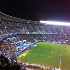 Photo taken at Estadio Juan Domingo Perón (Racing Club) by Fabian M. on 2/16/2013