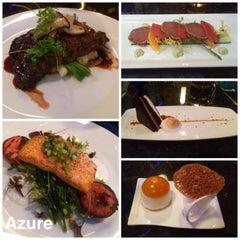 Photo taken at Azure Restaurant & Bar by Samantha C. on 7/17/2014
