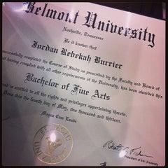 Photo taken at Belmont University by Jordan B. on 5/4/2013
