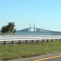Photo taken at Sunshine Skyway Bridge by Dorinda C. on 2/1/2013