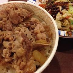 Photo taken at すき家 鹿児島下荒田店 by Shiokazek on 1/10/2014