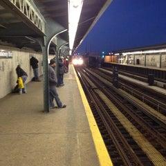 Photo taken at MTA Subway - Rockaway Blvd (A) by Nate F. on 11/6/2012