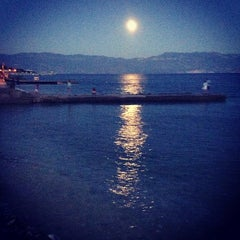 Photo taken at Baška Beach by Fekete A. on 7/23/2013