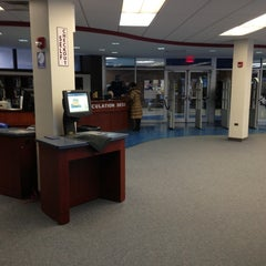 Photo taken at Lockwood Memorial Library by Jared S. on 2/19/2013