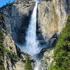 Photo taken at Lower Yosemite Falls by Francisco S. on 11/14/2015
