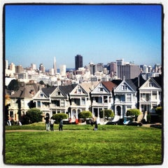 Photo taken at Alamo Square by Audrey G. on 11/12/2012