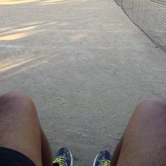 Photo taken at Sta. Ignacia Tennis Court by Edison V. on 1/29/2013