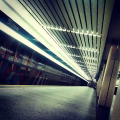 Photo taken at Metro Służew by Paula B. on 6/30/2013