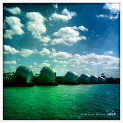Photo taken at Thames Barrier Park by Steven E. on 5/27/2013