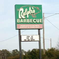 Photo taken at Ralph's Barbeque by Catina H. on 4/7/2013