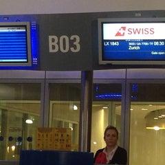 Photo taken at Gate B03 by Daphne K. on 11/23/2014