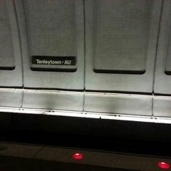 Photo taken at Tenleytown-AU Metro Station by Elizabeth S. on 3/22/2013