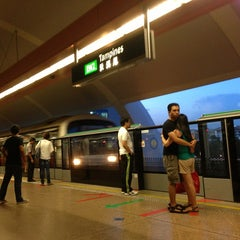 Photo taken at Tampines MRT Station (EW2/DT32) by Stephanie O. on 7/7/2013