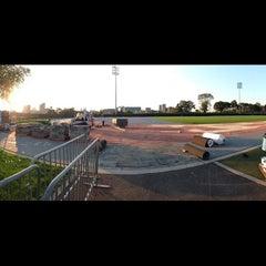 Photo taken at Icahn Stadium by Aaron W. on 10/11/2012