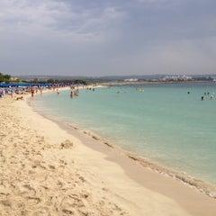 Photo taken at Makronissos beach by Sergey K. on 10/1/2012