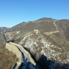 Photo taken at 慕田峪长城 Great Wall at Mutianyu by Cristina M. on 1/5/2013